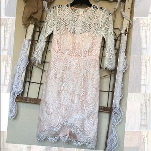 Dresses & Skirts - Beautiful white lace dress!